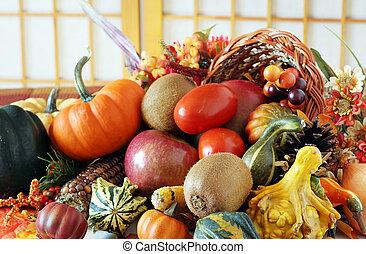 Cornucopia - The cornucopia is a symbol of food and...