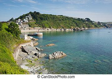 Cornwall coast at Looe England