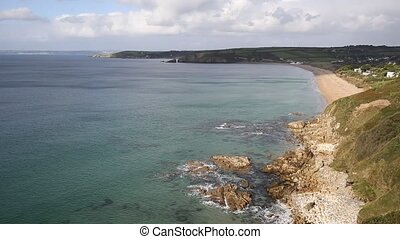 Cornwall coast Praa Sands beach