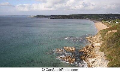 Cornwall coast Praa Sands beach South West England Uk