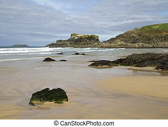 Cornwall England UK on a beautiful day