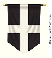 Cornwall Pennant - Cornwall flag or pennant isolated on ...