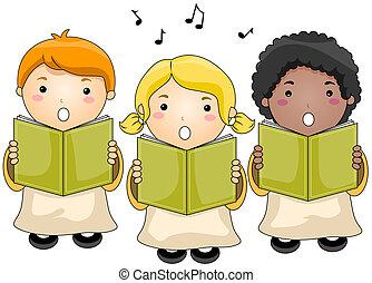 coro, crianças