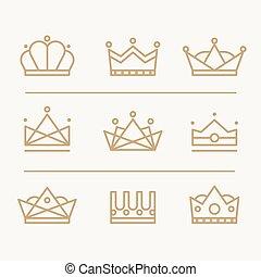 coroa, ícones