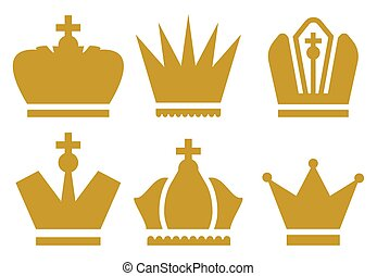 coroa, cobrança, ícones