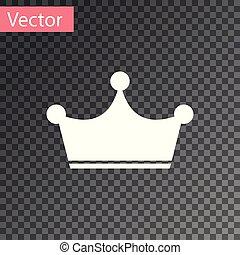 coroa, isolado, ilustração, experiência., vetorial, branca, transparente, ícone