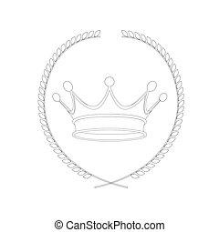coroa, isolado