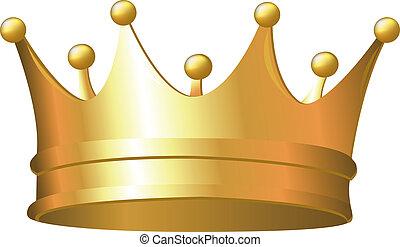 coroa, ouro