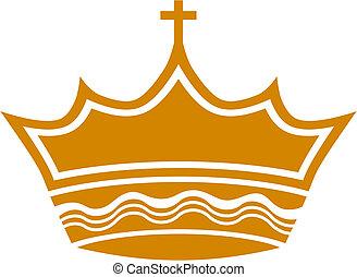 coroa real, crucifixos