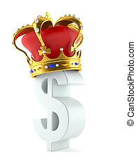 coroa, símbolo, dólar