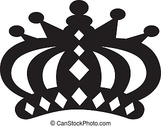 coroa, vetorial, arte, clip