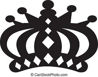 coroa, vetorial, corte arte