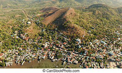 Coron town aerial view. Philippines, Palawan, Busuanga