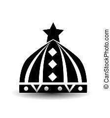 corona, bianco, isolato, fondo