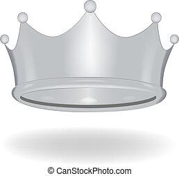 corona, caricatura, aislado