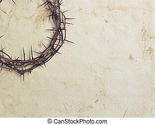 corona de espinas, en, textured, plano de fondo
