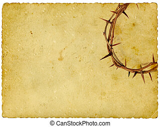 corona de espinas, en, vendimia, plano de fondo