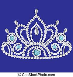 corona diadem feminine wedding  we turn blue