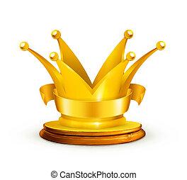 corona dorata, vettore