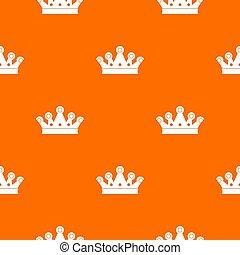 corona real, patrón, seamless