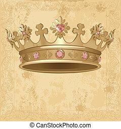 corona real, plano de fondo