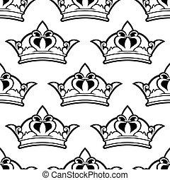 corona real, seamless, patrón