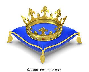 corona reale, cuscino