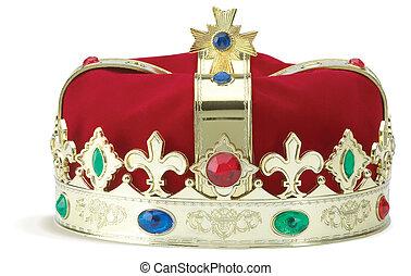 corona reale, isolato, su, uno, sfondo bianco, con, percorso tagliente