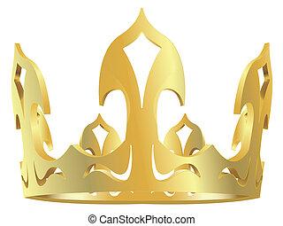 corona reale, oro