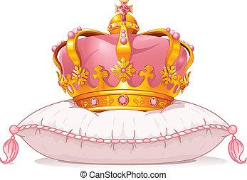 corona, su, il, cuscino