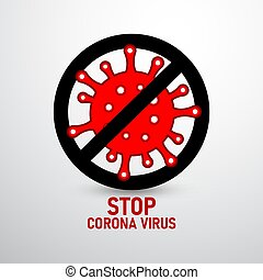 corona virus 2 - illustration graphic vector of stop corona ...