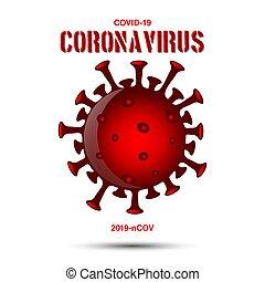 Corona Virus, Covid-19, 2019-nCOV Vector Template Illustration Design