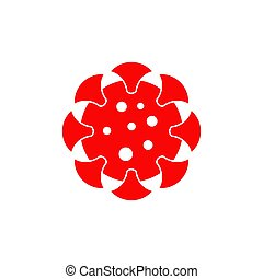 Corona virus covid19 icon symbol design template - Corona ...