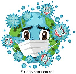Corona virus global pandemic illustration