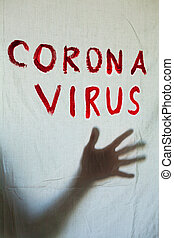 Corona Virus inscription. - Corona Virus inscription on a ...
