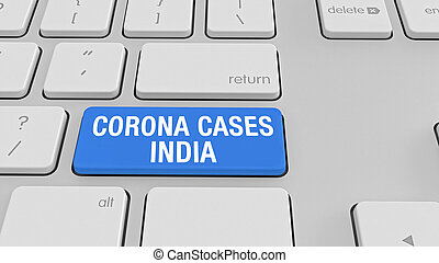 Corona Virus keyboard stock photo