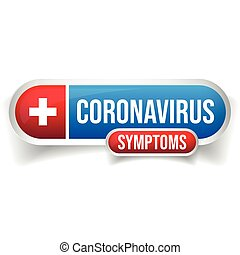 Corona virus medicine button sign vector