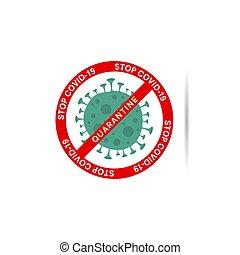 corona virus stop sign illustration