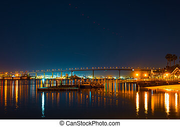 Coronado bridge by night