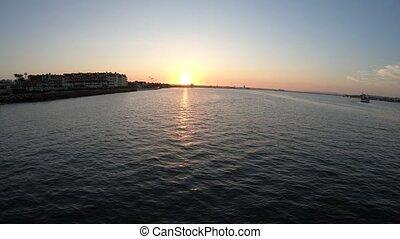 Coronado pier sunset - Scenic sunset on San Diego Bay from...