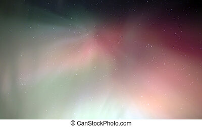 Coronal Aurora with Red