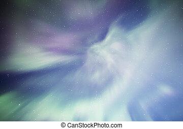 Coronal Aurora with stars from an Alaskan sky.