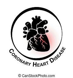 Coronary Heart Disease Symbol ( Ischemic heart disease ,...