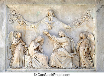 Coronation of the Virgin Mary, Column of the Immaculate ...