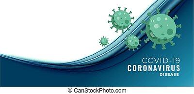 coronavirus, דגל, טקסט, מושג, פסק, covid-19