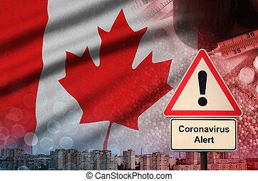 coronavirus, カナダ, 小説, 印。, 2019-ncov, 確率, 発生, 警告, 高く, 観光客, 旅行...