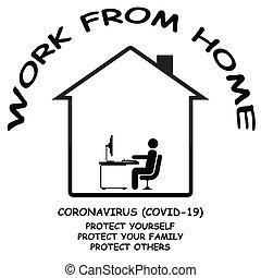 coronavirus, 19, fonctionnement maison, covid