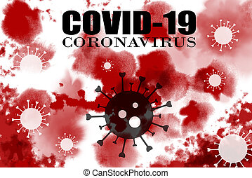 coronavirus, 19, plano de fondo, sangre, covid