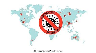 Coronavirus 2019-nC0V Outbreak. Travel Alert concept. The ...