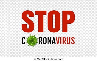 Coronavirus 2019 nCov Banner Transparent Background